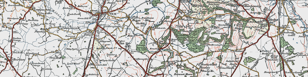Old map of Lee Brockhurst in 1921