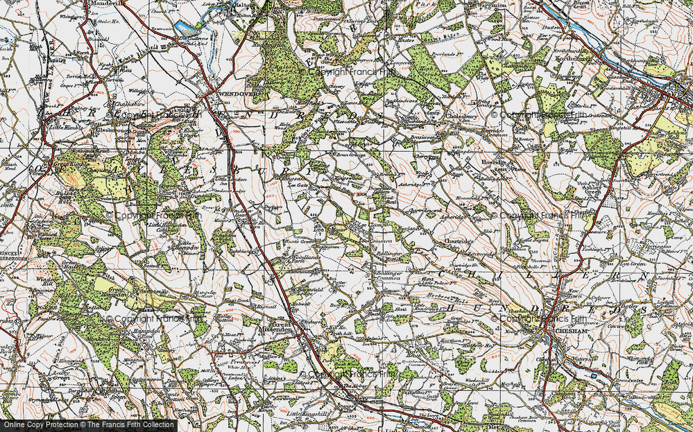 Old Map of Lee Common, 1919 in 1919