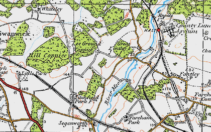 Old map of Lee Ground in 1919