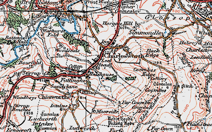 Old map of Lee Head in 1923