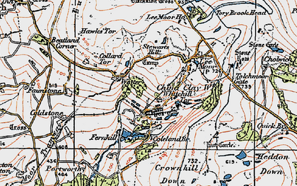 Old map of Lee Moor in 1919