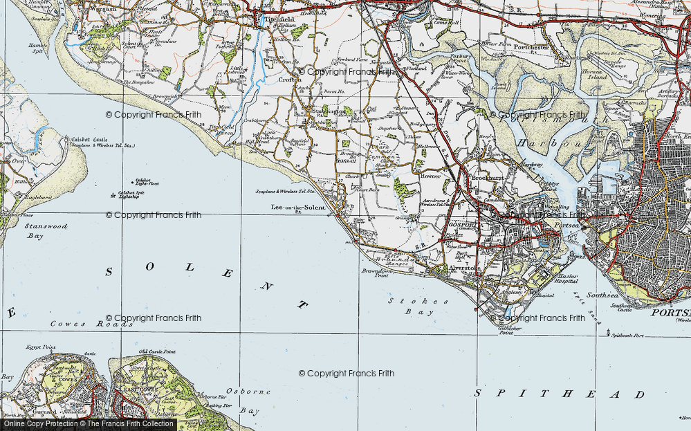 Old Map of Lee-on-the-Solent, 1919 in 1919