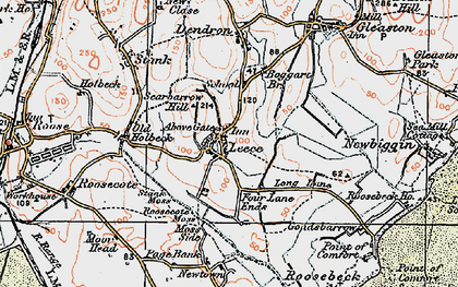 Old map of Leece in 1924