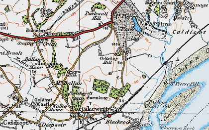 Old map of Leechpool in 1919