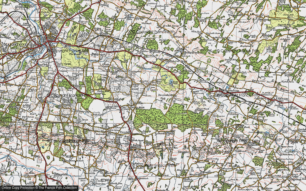 Map of Leeds 1921 Francis Frith