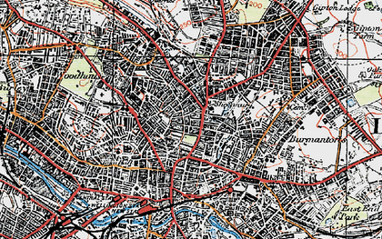 Old map of Leeds in 1925
