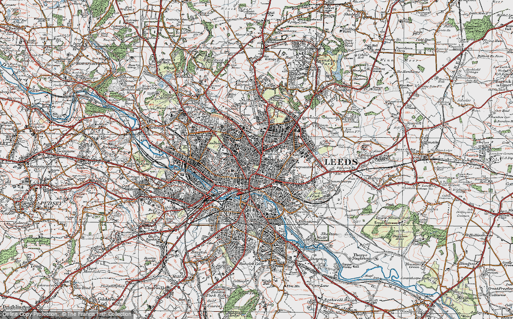 Map of Leeds 1925 Francis Frith