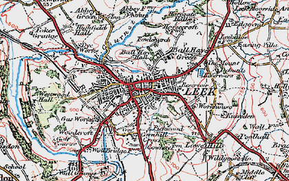 Old map of Leek in 1923