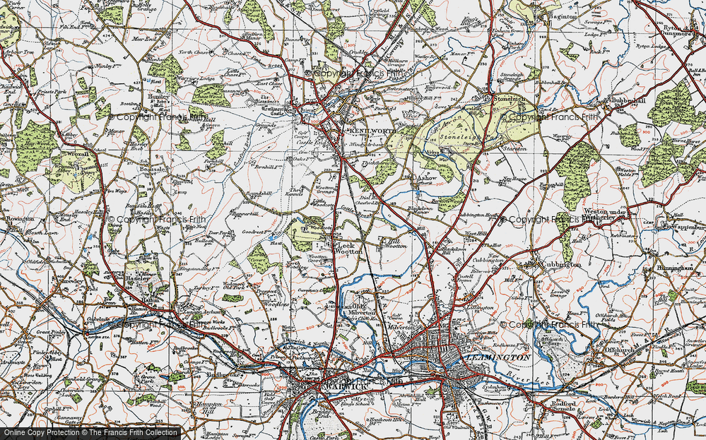 Old Map of Historic Map covering Larch Covert in 1919