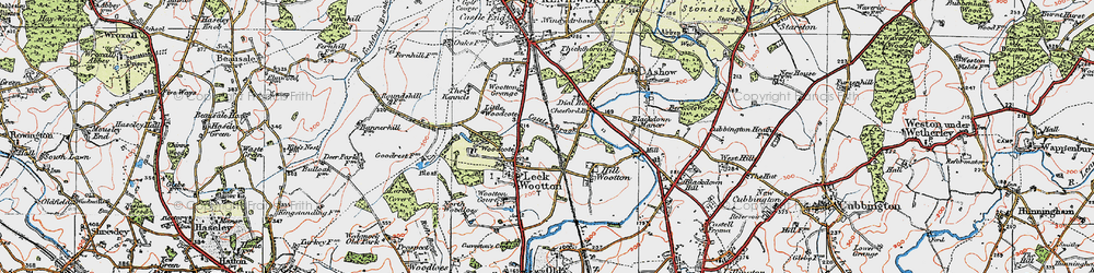Old map of Larch Covert in 1919
