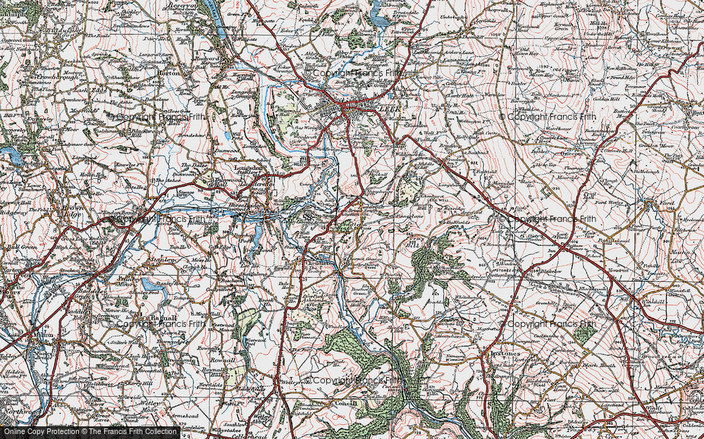 Old Map of Leekbrook, 1921 in 1921