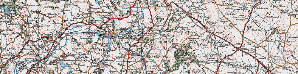 Old map of Leekbrook in 1921
