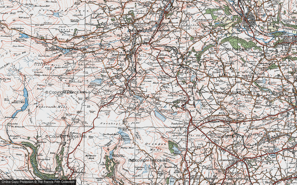 Old Map of Leeming, 1925 in 1925