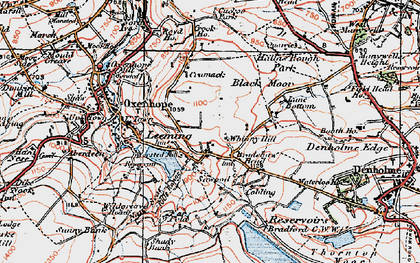 Old map of Leeming in 1925