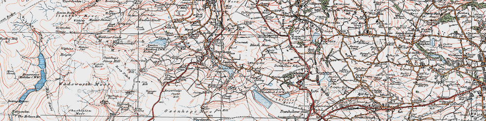 Old map of Whinny Hill in 1925