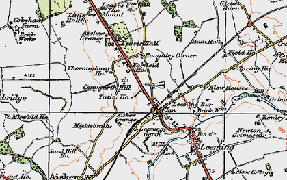 Old map of Leases Grange in 1925