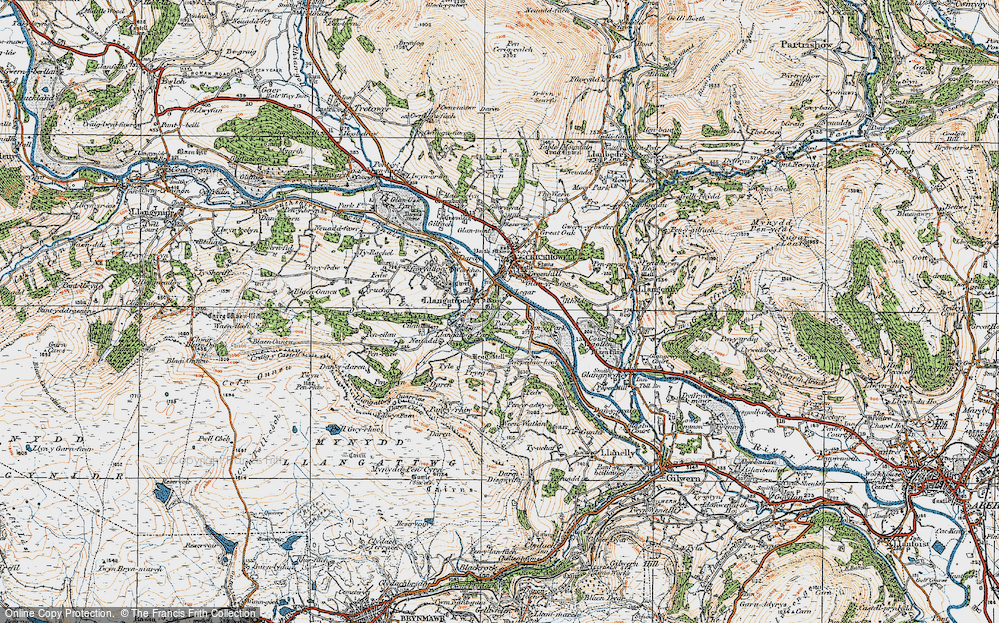 Old Map of Legar, 1919 in 1919