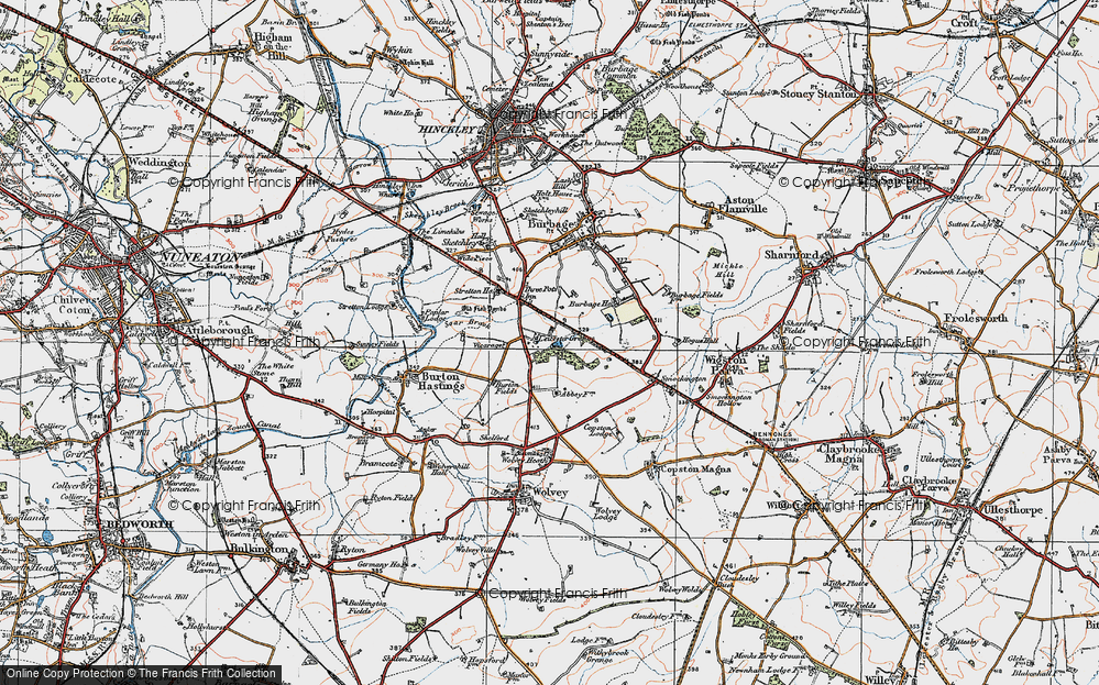 Old Map of Leicester Grange, 1920 in 1920