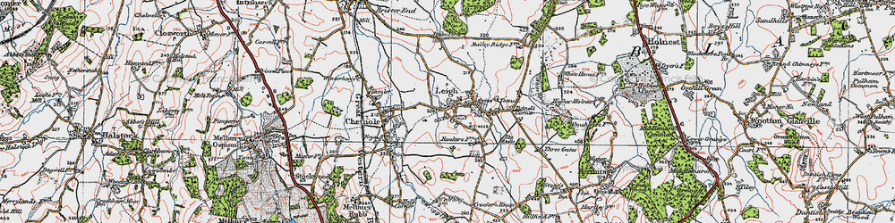 Old map of Leigh in 1919