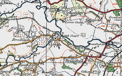Old map of Tithe Barn in 1920