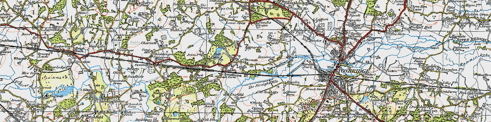 Old map of Leigh in 1920