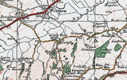 Old map of Leigh Manor in 1921