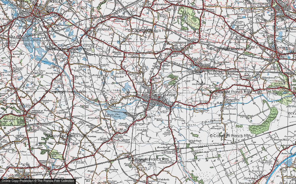 Old Map of Leigh, 1924 in 1924