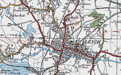 Old map of Leigh in 1924