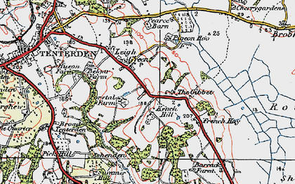 Old map of Leigh Green in 1921