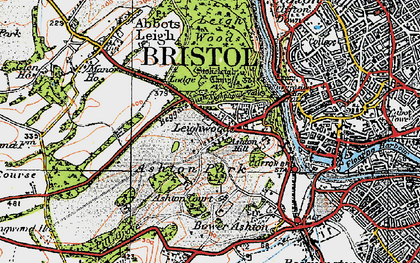 Old map of Aston Court Estate in 1919