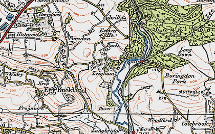 Old map of Leigham in 1919