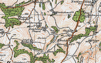 Old map of Leighland Chapel in 1919