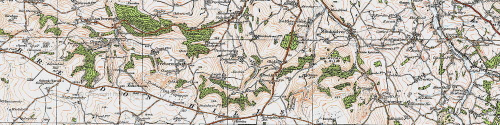 Old map of Timwood in 1919