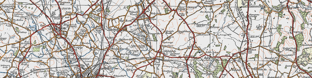 Old map of Leighswood in 1921