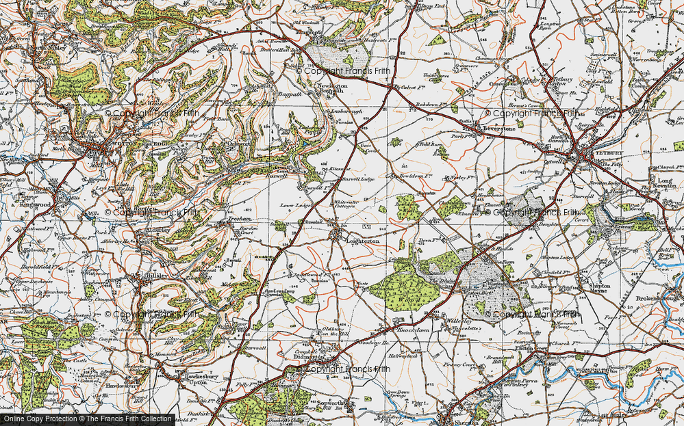 Old Map of Leighterton, 1919 in 1919