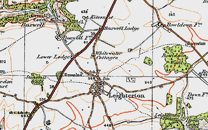 Old map of Leighterton in 1919