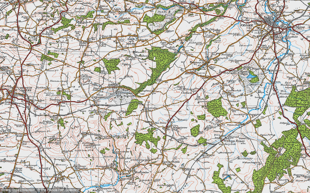 Old Map of Leighton, 1919 in 1919