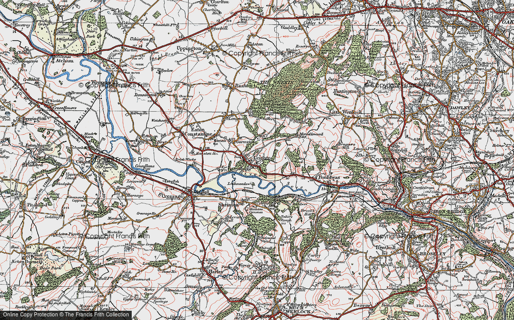 Old Map of Historic Map covering Leechmeadow Cott in 1921