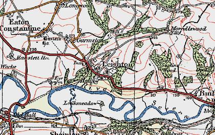 Old map of Leechmeadow Cott in 1921