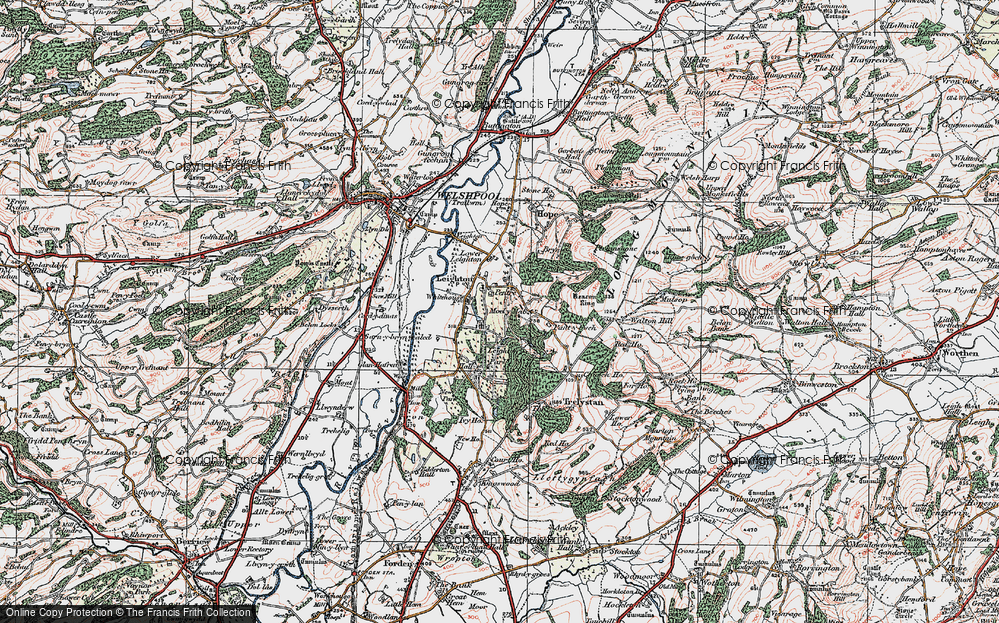Old Map of Leighton, 1921 in 1921