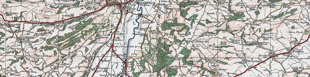 Old map of White Ho, The in 1921