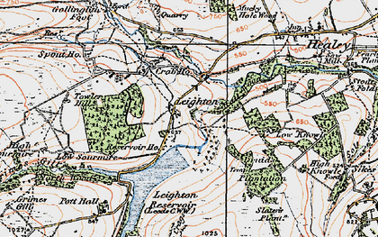Old map of Leighton Resr in 1925
