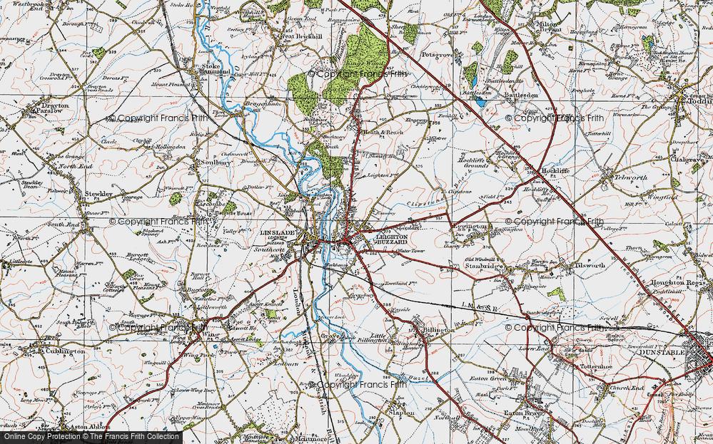 Leighton Buzzard Map Map of Leighton Buzzard, 1920   Francis Frith