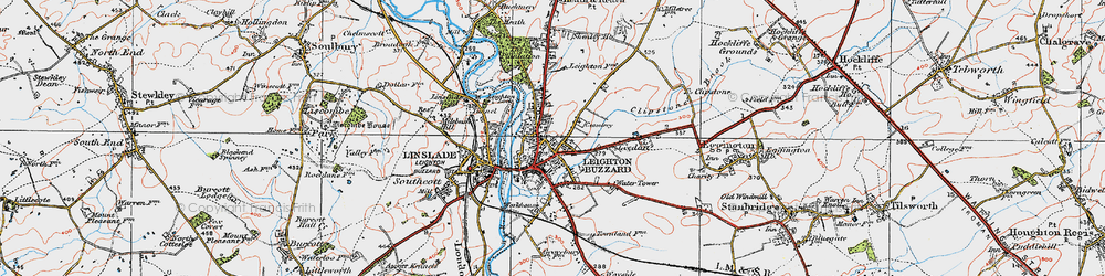 Old map of Leighton Buzzard in 1920