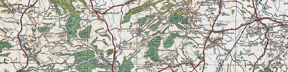 Old map of Whiteway Head in 1920