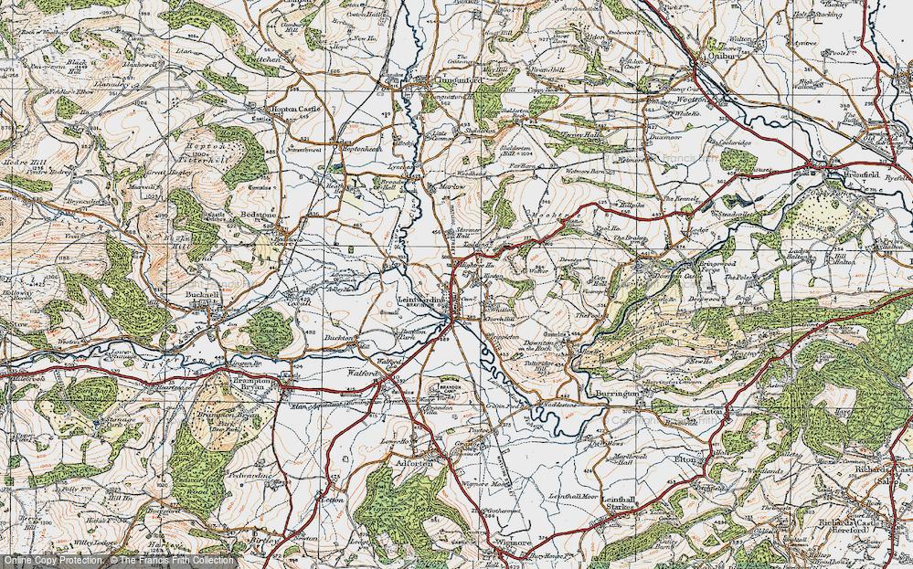 Old Map of Leintwardine, 1920 in 1920