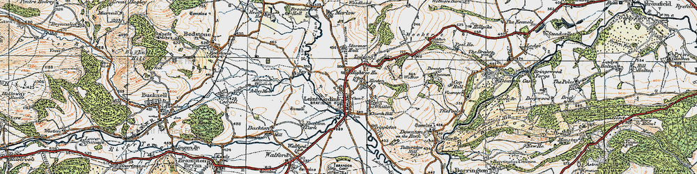 Old map of Leintwardine in 1920