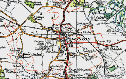 Old map of Leiston in 1921