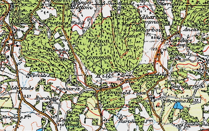 Old map of Leith Hill Place in 1920