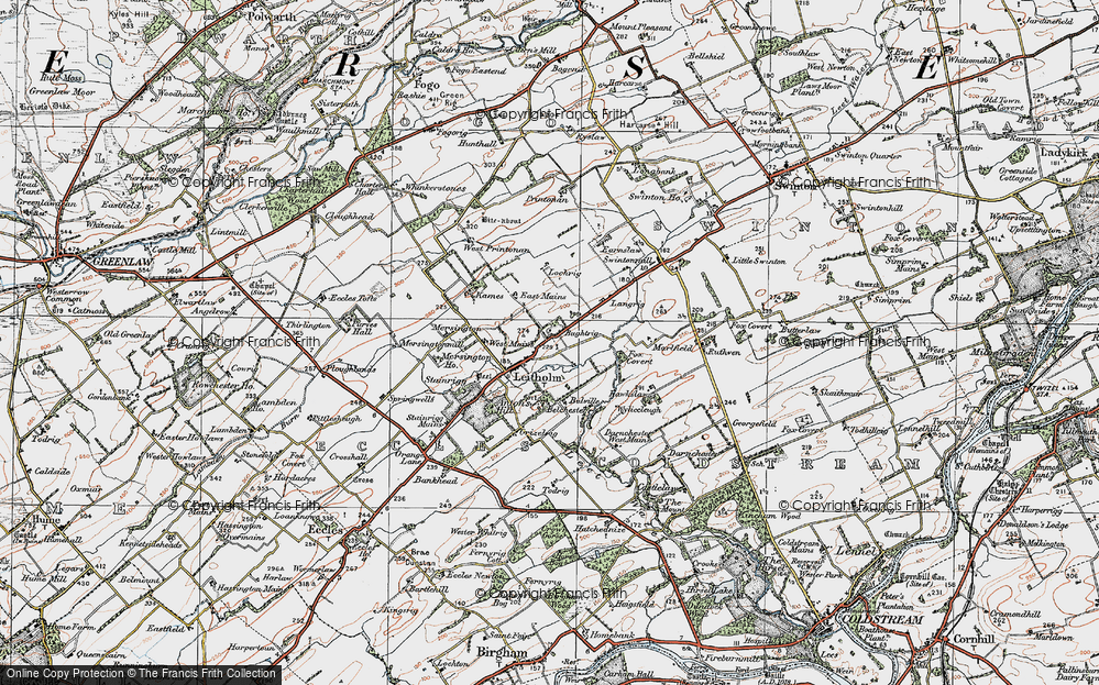 Old Map of Historic Map covering Langrig in 1926